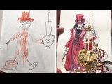 Папа превращает рисунки своих сыновей в персонажей аниме и это потрясающе