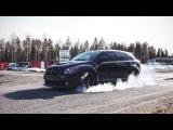 Dodge Caliber SRT4 Mopar racing in Oulu, Finland. 200 kmh