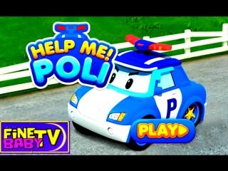 робокар поли на русском. игра поли спасает автобус. обзор игры для детей Robocar Poli FineBabyTV