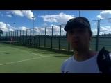 Мои первые соревнования по теннису, вот такой красивый корт)