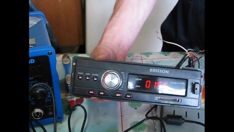 Ремонт Авто Магнитолы.ERISSON модель RU-1001. Ремонт уселителя. Микросхема была UTC7266. Была заменина на TDA7266.И дополнитель
