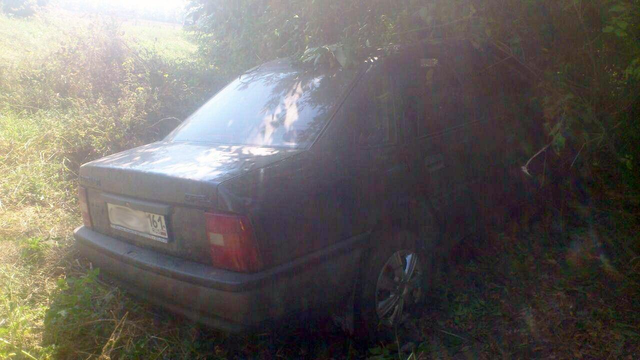 Под Таганрогом Opel слетел с трассы и врезался в дерево, двое пострадавших