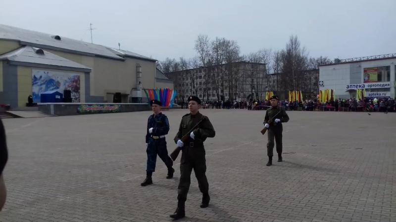 Почетный караул ВПК Ратник 9 мая 2017 г.