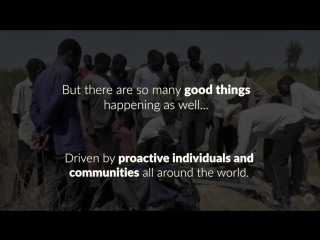 What are you doing today for your community?