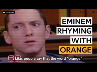 Eminem Proves There Are Plenty Of Words That Rhyme With Orange