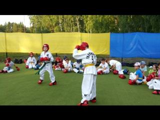 Федорченко Дмитрий и Махоткин Александр спаринговая тренировка