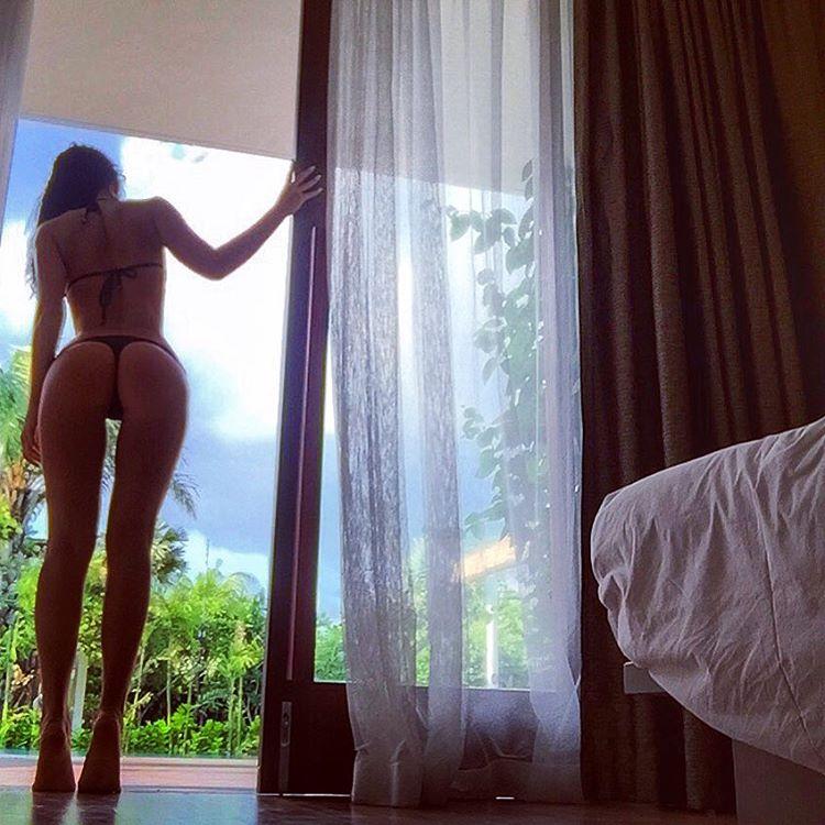 Milena velba sucking her own huge tits