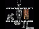 Diablo 2 How good is full sigon's set 8 players test!
