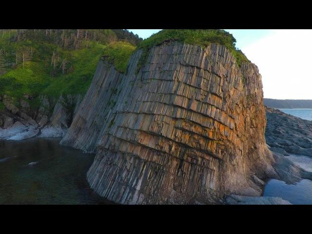 Мыс Столбчатый. Cape Stolbchaty. Кунашир. Kunashir. Курильские острова.