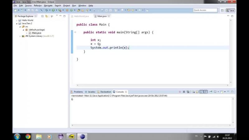 Yakın Kampüs - Java ile Programlamaya Giriş - Ders 2- Değişken Türleri Atama ve İşlemler