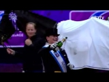 Изабель Верт, Лаура Грейвс и Карл Хестер на награждении Финала Кубка мира 2017 года