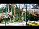 Динозавры в зоопарке!