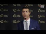 Интервью Криштиану после получения награды лучшему игроку Португалии