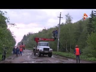 Ликвидация последствий смертельного урагана в Центральной России