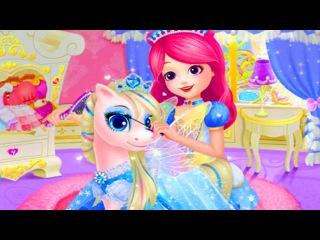 Королевские Пони.Дворец для Питомцев Принцессы/Princess Palace Royal Pony.Мультик Игра