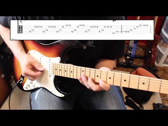 Eric Johnson Style Extended Run ( WITH TABS!!)