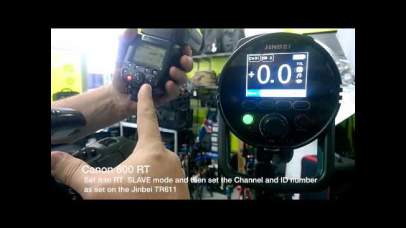 TTL Triggering the Jinbei HD610 and Canon 600EX-RT together