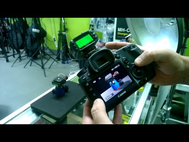 Jinbei TR611C demo of Canon 600EX-RT Speedlight and HD610 native control