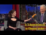 Anna Kendrick - David letterman is her first - 33 appearances in order