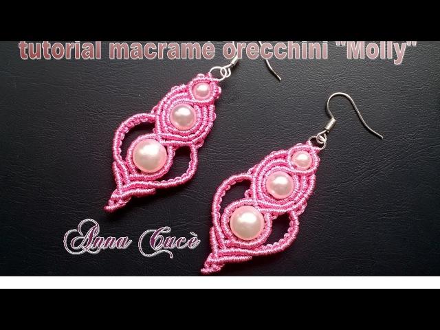 Tutorial macramè orecchini Molly/Tutorial macramé earrings Molly/Diy tutorial