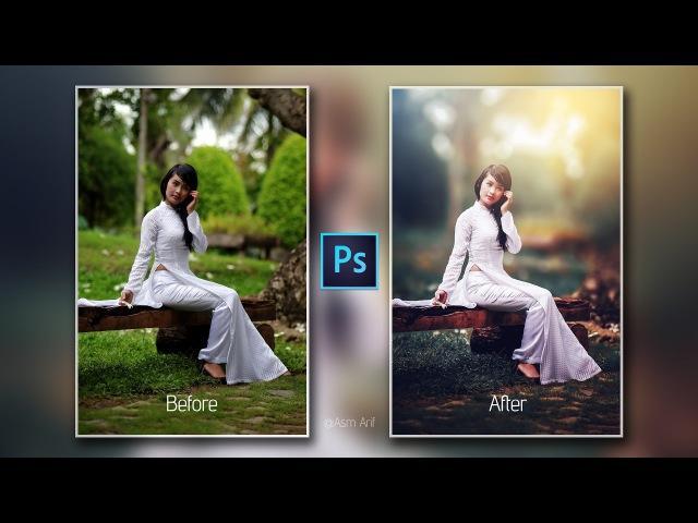 Photoshop cc Tutorial Outdoor Portrait Retouching📷
