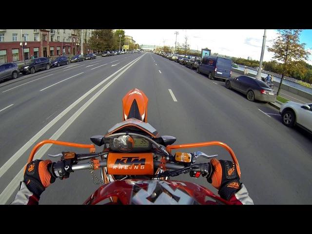 Wheelie Moscow ktm 690 smc r
