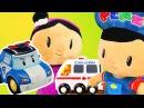 Pepee Şila'ya trafik kuralları anlatıyor Oyuncak arabalar polis ambülans ve itfaiye arabaları