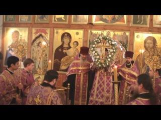 Архиерейское служение накануне праздника Воздвижения Честного и Животворящего Креста Господня