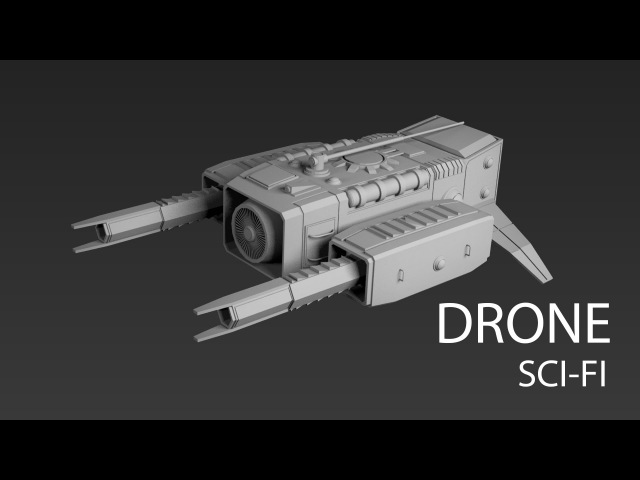 Modeling sci fi drone 3ds max tutorial part - 1