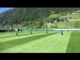 Тренировка сборной России в Австрии