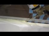 Один из вариантов выполнения примыкания акриловой ванны и кафеля
