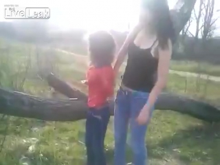 Young girl bullied by older girls