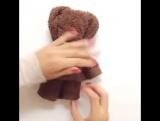 Как сделать мишку из полотенца