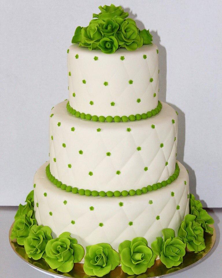 Изумрудный свадебный торт (арт. 38)