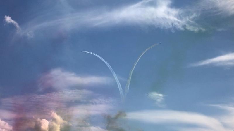 ОАЭ; MB-339x7, командир Nasser Al Obaidli @ MAKS Air Show