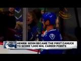 NHL Morning Catch up Meet Mr. 1,000 Henrik Sedin  January 21, 2017