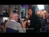 Том Холланд и Стэн Ли на съёмочной площадке «Человека-паука»