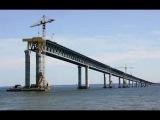 Крымский мост с высоты птичьего полета Август. 2016 красота нереальная стройка от Тамани до Керчи