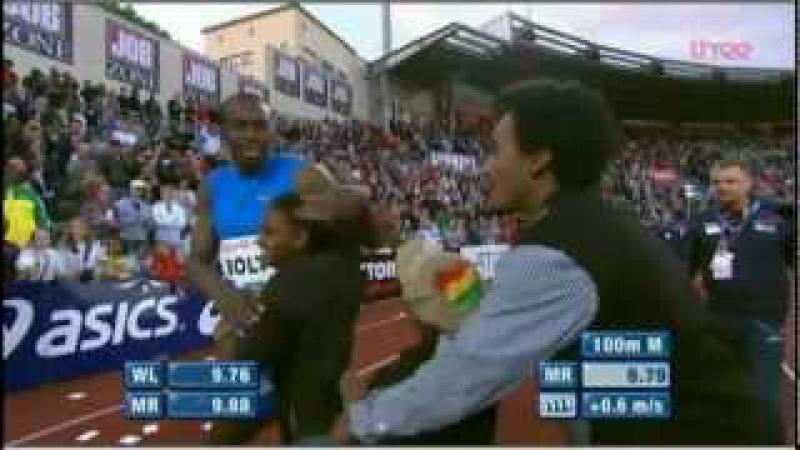 Usain Bolt 9.79 Oslo 100m Diamond League 2012 ENGLISH HD