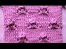 Ажурный узор Розочки Вязание спицами Видеоурок 41