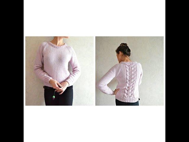 Вязание спицами свитера для начинающих мастер класс 86