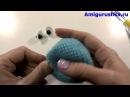 Игрушка амигуруми Смурфик крючком. Из мультфильма Смурфики. Урок 52. Часть 3. Мастер класс.