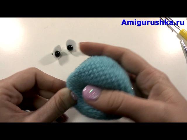 Игрушка амигуруми Смурфик крючком Из мультфильма Смурфики Урок 52 Часть 3 Мастер класс