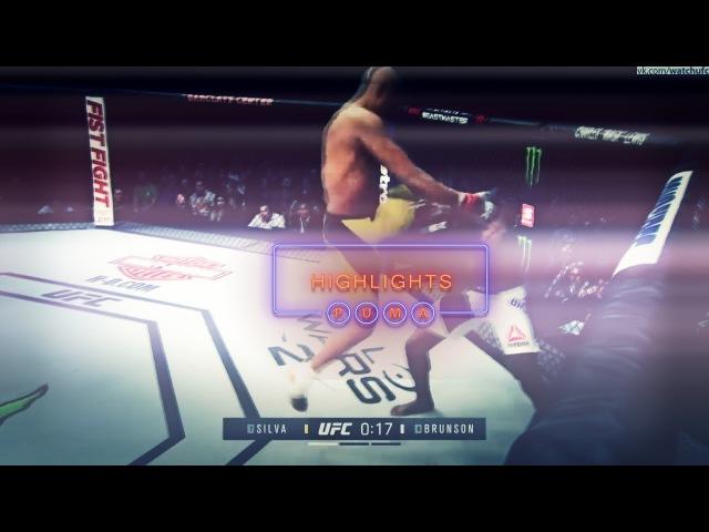 Anderson Silva vs Derek Brunson Fight Highlights ● Андерсон Сильва vs Дерек Брансон Лучшие моменты anderson silva vs derek br