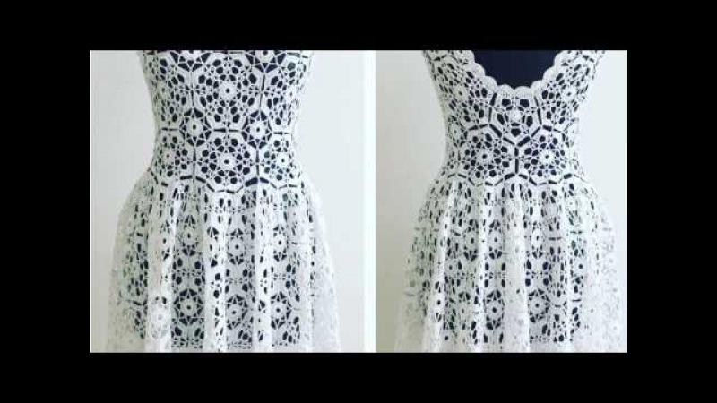 Мастер-класс по вязанию платья мотивами. Лилита Матросова.