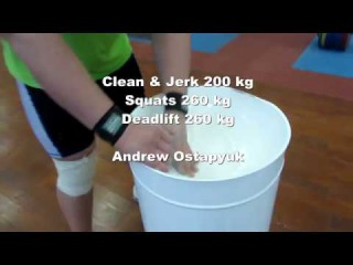 6/1/2017 : CJ 200 kg, Squats 260 kg, Deadlift 260 kg