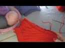МК Домашние носки следки с косами Knitted slippers