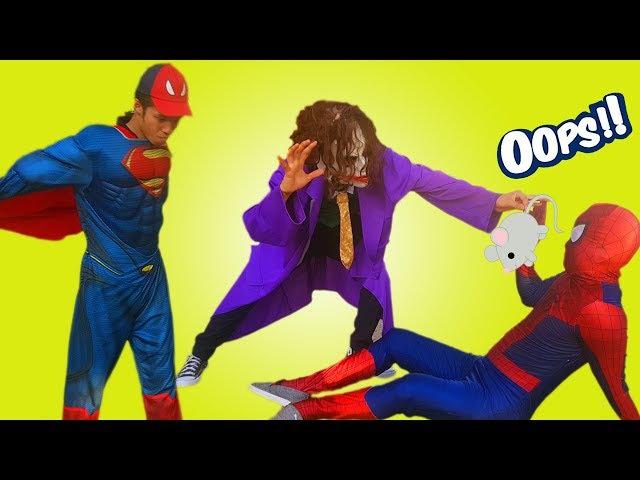 Frozen Elsa Spiderman 🐭 Joker stolen MAGIC WAND of Maleficent PRANK Spiderman Superhero funny