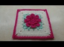 CROCHET How To Crochet Rose Flower Granny Square Revised in HD TUTORIAL 303 LEARN CROCHET