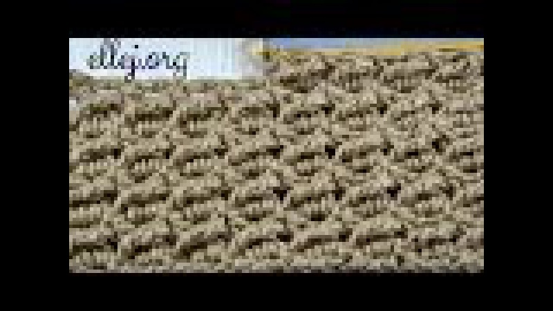 ♥ Узор крючком Косые столбики • Diagonal treble crochet stitch